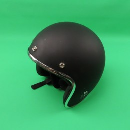 Helm Le mans solid mat zwart