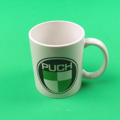 Coffee mug cup with PUCH logo