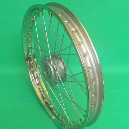2 Voorwiel spaak 17inch Puch Maxi